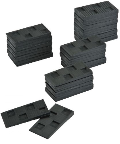 Afstandsblokjes, afstandwiggetjes 50 stuks per set