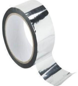 Aluminium tape zilver 50 meter per rol