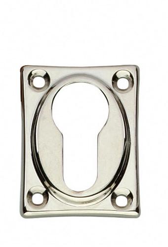 Cilinderrozet Nikkel vierkant