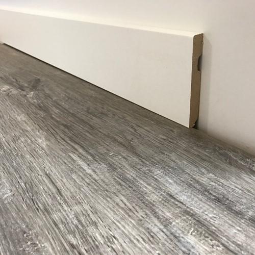 Moderne MDF plint folie wit 12cm x 225cm Blok