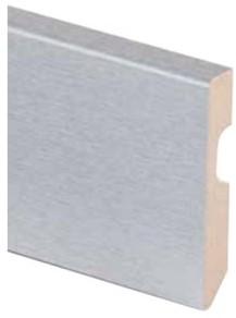 MDF plint grijze folie 8cm x 225cm x 14mm
