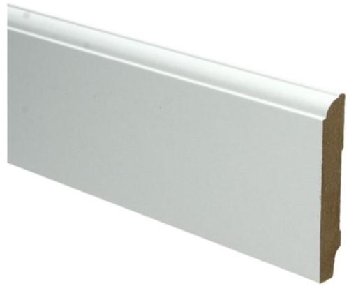 Plint kleurstaal   MDF Kraal folie wit 9cm