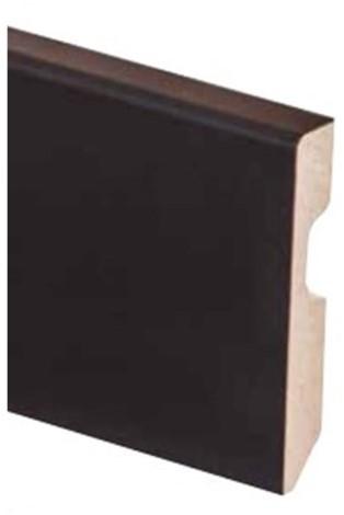 MDF Zwarte folie plint 8cm x 225cm x14mm