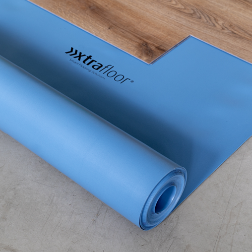 Ondervloer Xtrafloor silent 10db click PVC 1,1mm 12,5m²