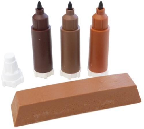 Vloerkrassen markeer stift kleurset ROOD BRUINE kleuren