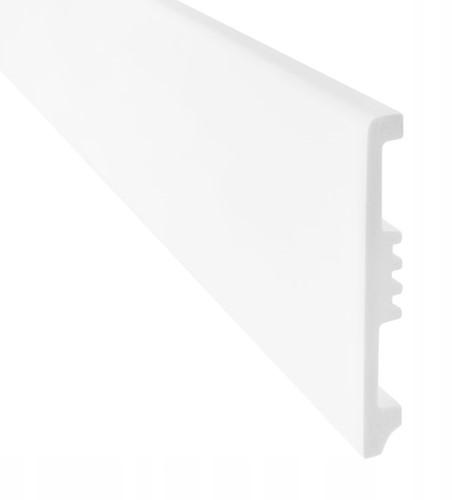 Watervaste plint 8cm wit   200cm