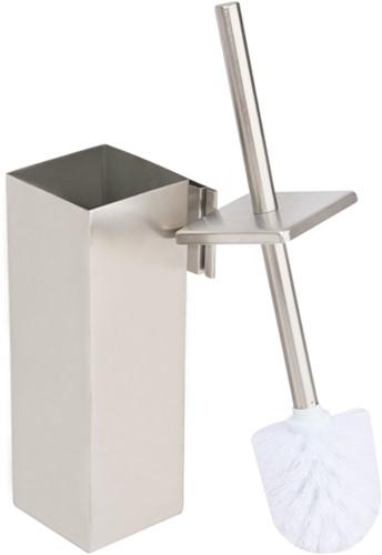 WC borstel met houder RVS