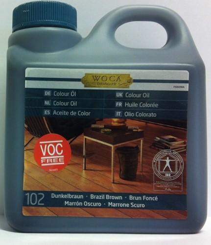 Woca masterolie kleur 102 brazil brown 1 liter