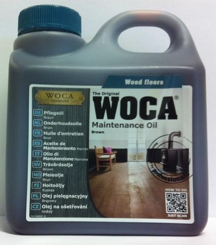Woca onderhoudsolie bruin 1000ml - 1 liter
