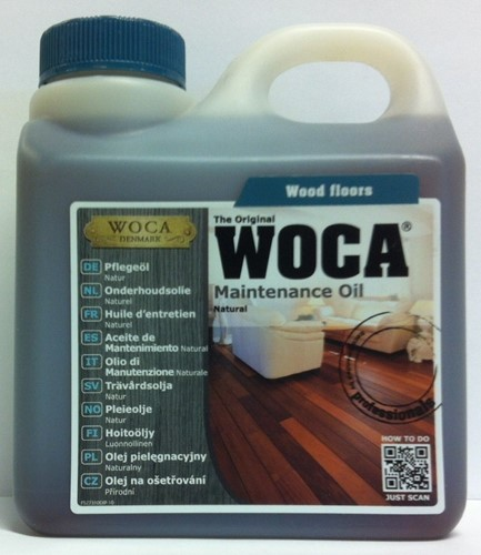 Woca onderhoudsolie naturel 1000ml - 1 liter