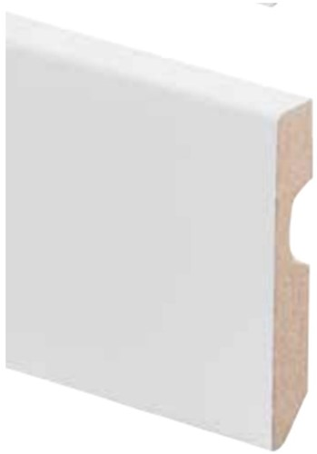 Plint kleurstaal | MDF Folie wit 18cm